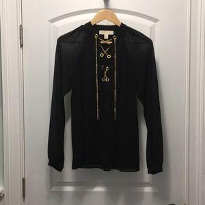 Michael Kors black blouse